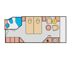 Grundriss-Balkonkabine_AIDAcara