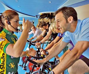 Fitnesscenter an Bord
